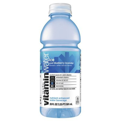 Glaceau Vitaminwater Ice, Electrolyte Enhanced Water With Vitamins, Blueberry Lavender