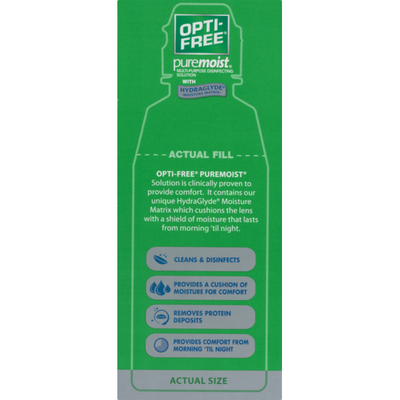 OPTI-FREE PureMoist All Day Comfort Multi-Purpose Disinfecting Solution