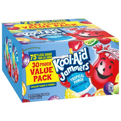 Kool-Aid Jammers Tropical Punch Artificially Flavored Soft Drink Value Pack
