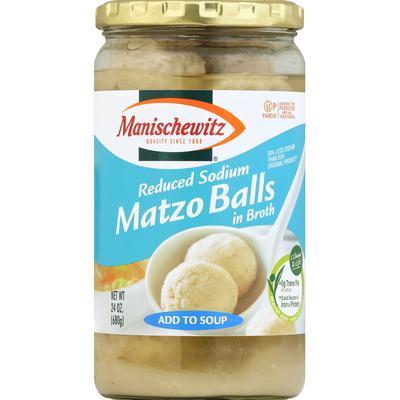 Manischewitz Reduced Sodium Matzo Balls in Broth