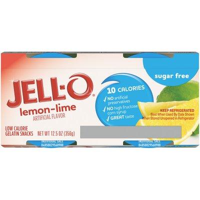 Jell-O Lemon-Lime Sugar Free Ready-to-Eat Gelatin Snacks