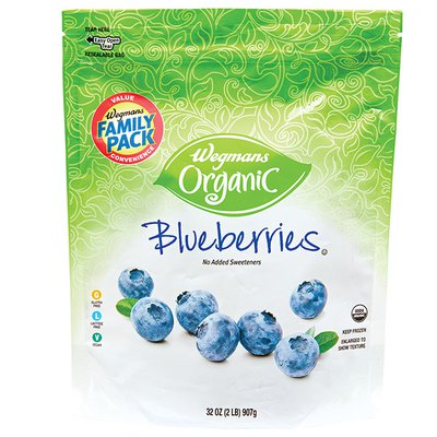 Wegmans Organic Food You Feel Good About Blueberries, FAMILY PACK