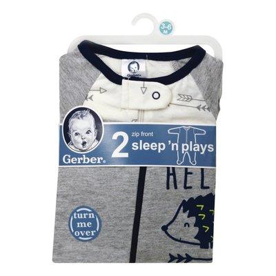 Gerber Sleep 'N Plays, Zip Front, 0-6 Months