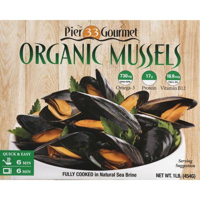 Pier 33 Gourmet Mussels, Organic
