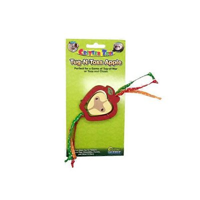 Ware Critter Tug N Toss Apple Chew Toy