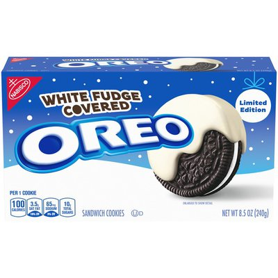 Oreo White Fudge Covered Sandwich Cookies, Holiday Edition