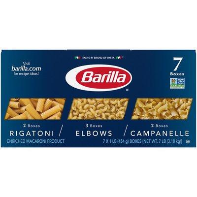 Barilla® Rigatoni Elbows Campanelle Pasta Variety Pack