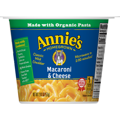 Annie's Classic Mild Cheddar Macaroni and Cheese Microwave Cup