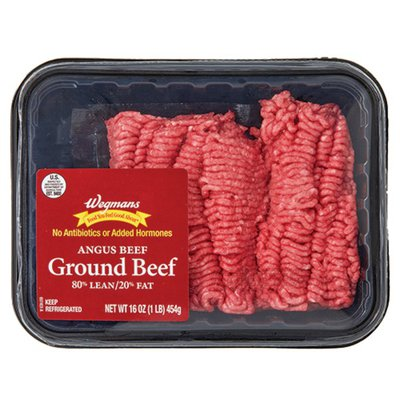 Wegmans 80/20 Ground Angus Beef