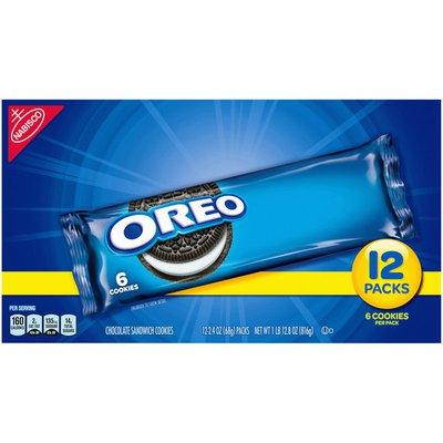 Oreo Chocolate Sandwich Cookies, Original Flavor, 12 Snack Packs (72 Cookies Total)