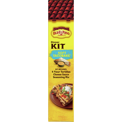 Old El Paso Dinner Kit, Soft Tacobake