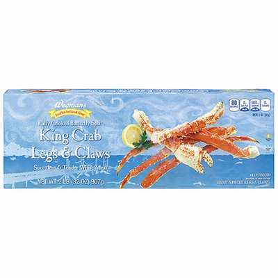 Wegmans Food You Feel Good About Fully Cooked Butterfly Split King Crab Legs & Claws