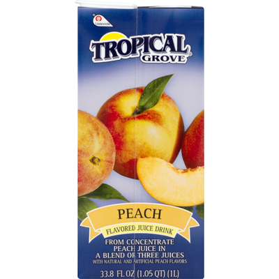 Tropical Grove Flavored Juice Drink Peach