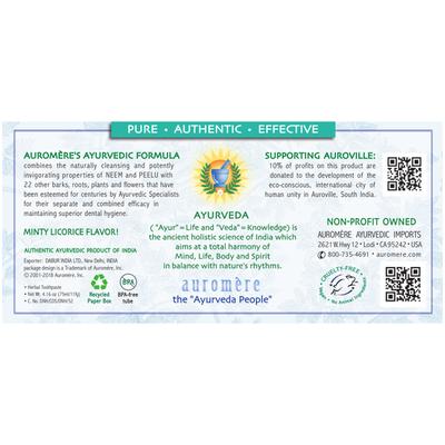 Auromere Classic (Licorice) Ayurvedic Herbal Toothpaste