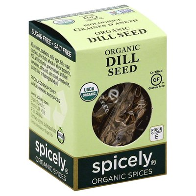 Spicely Organics Dill Seed, Organic