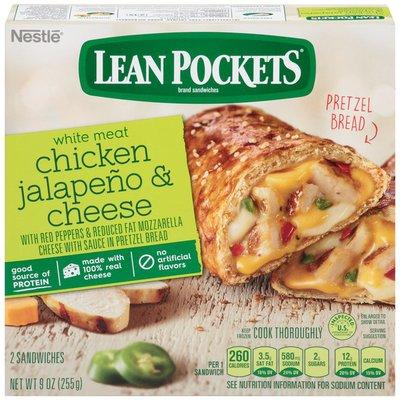 LEAN POCKETS Chicken Jalapeno & Cheese Pretzel Bread Frozen Sandwiches