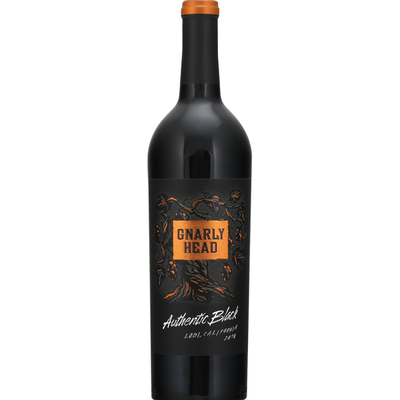 Gnarly Head Red Wine, Authentic Black, California, 2018
