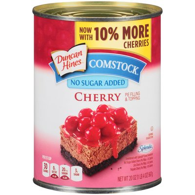 Duncan Hines Comstock Cherry No Sugar Added Pie Filling & Topping