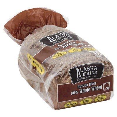 Alaska Grains Bread, 100% Whole Wheat, Russian River, Bag
