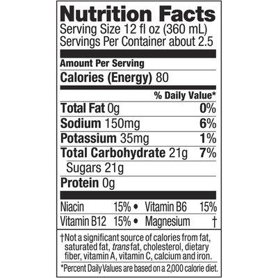 Powerade Watermelon Strawberry Wave, Ion4 Electrolyte Enhanced Fruit Flavored Sports Drink W/ Vitamins B3, B6, And B12, Replenish Sodium, Calcium, Potassium, Magnesium