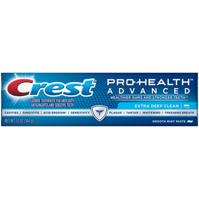 Crest Pro-Health Advanced Extra Deep Clean Smooth Mint Fluoride Toothpaste