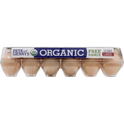 Pete and Gerry's Eggs, Organic, Free Range, Large, Grade A