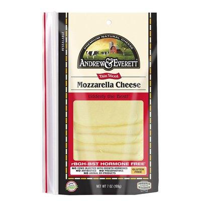 Andrew & Everett Mozzarella Pre-Sliced
