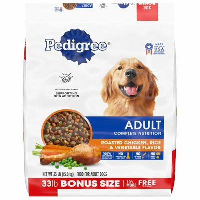 Pedigree Adult Complete Nutrition Roasted Chicken, Rice & Vegetable Dry Dog Food