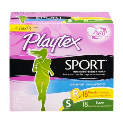 Playtex Playtex Sport Plastic Multipack Tampons, Unscented, Regular/Super