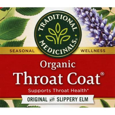Traditional Medicinals Herbal Supplement, Organic, Original with Slippery Elm,Throat Coat, Tea Bags