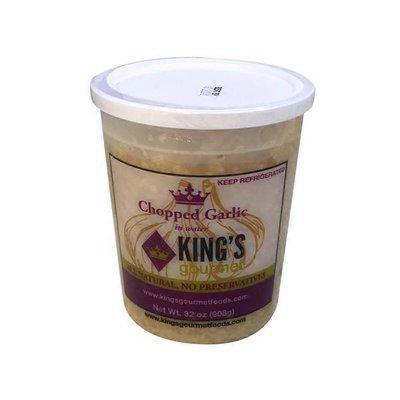 King's Gourmet Case of Chopped Garlic In Water