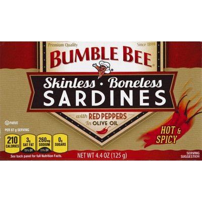 Bumble Bee Sardines, Hot & Spicy, Skinless, Boneless