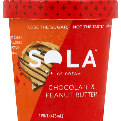 Sola Ice Cream, Chocolate & Peanut Butter