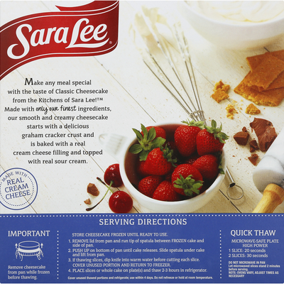 Sara Lee Cheesecake, Classic