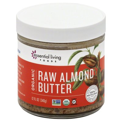 Essential Living Foods Almond Butter, Raw, Organic