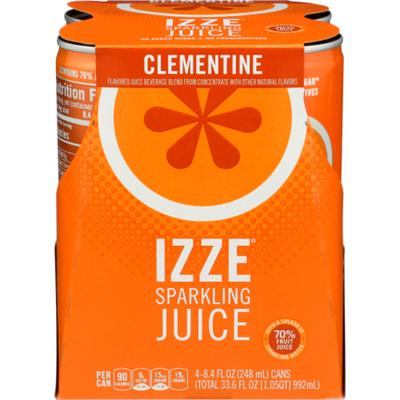 Izze Sparkling Juice Clementine, aluminum cans