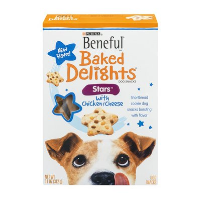 Beneful Purina Beneful Baked Delights Dog Snacks Stars with Chicken & Cheese