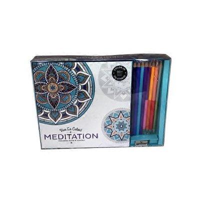Hatchette Vive Le Color Meditation (Adult Coloring Book & Pencils)