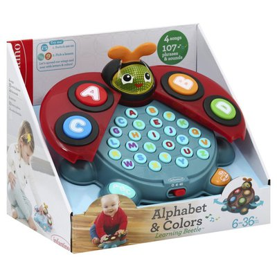 Infantino Learning Beetle, Alphabet & Colors, 6-36 Months+