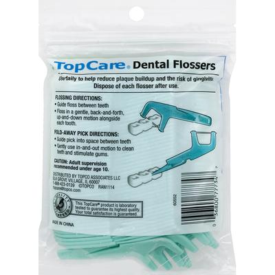 TopCare Dental Flossers, Fine, High Performance, Mint Flavor