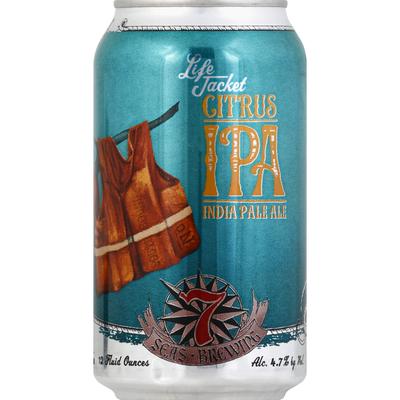 7 Seas Brewing Beer, India Pale Ale, Citrus IPA, Life Jacket