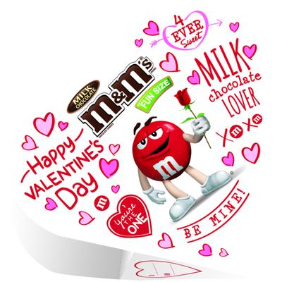 M&M's Valentine's Milk Chocolate Candy Exchange Heart Box