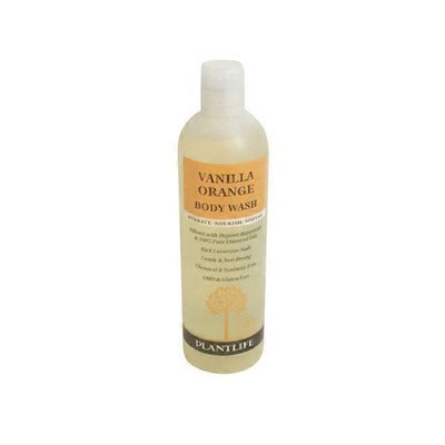 Plantlife Vanilla Orange Body Wash Made With Organic Ingredients and 100% Pure Essential Oils