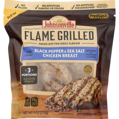 Johnsonville Flame Grilled Black Pepper & Sea Salt Chicken Breast