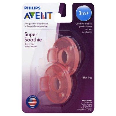 Philips Avent Avent Soothie Pacifier, 3+ months, Various Colors, 2pk, SCF192/05