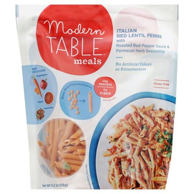 Modern Table Meals Meals, Italian, Red Lentil Penne, Pouch