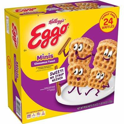 Eggo Mini Frozen Waffles, Frozen Breakfast, All Day Kids Snacks, Cinnamon Toast