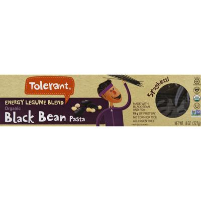 Tolerant Pasta, Black Bean, Organic, Energy Legume Blend, Spaghetti