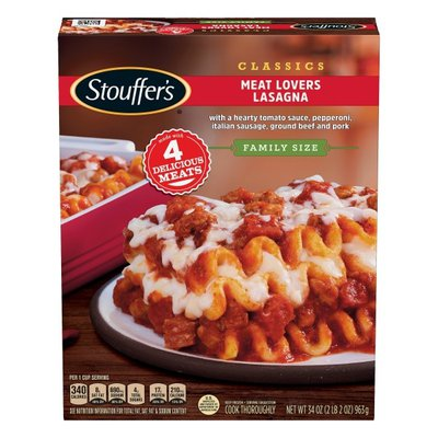 Stouffer's Family Size Meat Lovers Lasagna Frozen Meal