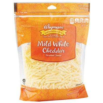 Wegmans Shredded Mild White Cheddar Cheese